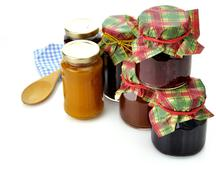 jam in the jars - stock photo