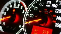 Car speedometer Stock Footage