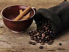 coffee composition - stock photo