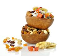 Stock Photo of mixed dried fruit, nuts and seeds