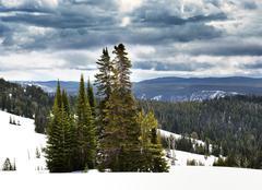 high mountains landscape - stock photo