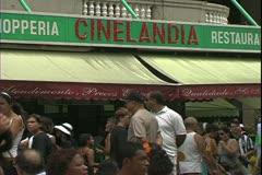Rio de Janerio, Brazil, outdoor sidewalk cafe, Cinelandia Square Stock Footage