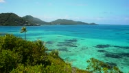 Caribbean Islands and Beautiful Water Stock Footage