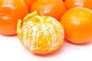 Ripe tasty tangerines Stock Photos