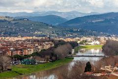 river arno, florence - stock photo