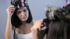 Beauty routine Stock Footage
