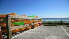 Kayaks Stock Footage