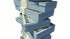 Stack of Dollar Bills. Stock Footage