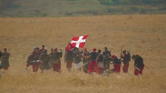 Editorial - Historical festival Stock Footage