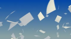 Flying Papers. Stock Footage