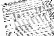 Stock Photo of 1040 Income Tax Form