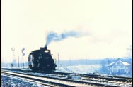 Stock Video Footage of Archival footage of an early steam train in Canada