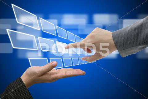 Stock Illustration of virtual technology touch screen interface