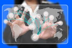 Virtual touchscreen interface Stock Illustration