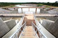 Water gates at dam Stock Photos