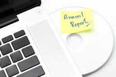 business annual report - stock photo