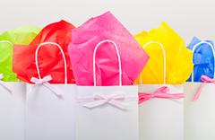 gift bags in colors - stock photo