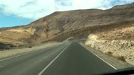Stock Video Footage of Camera car on the road - Fuerteventura