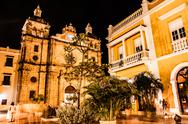 Stock Photo of cartagena de indias at night, colombia