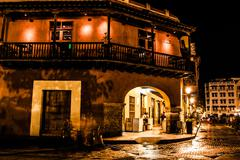 cartagena de indias at night, colombia - stock photo