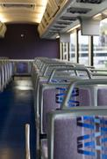 inside a travel bus - stock photo