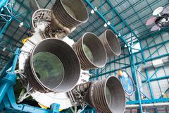 Giant jet engines Stock Photos