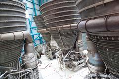 giant jet engines - stock photo