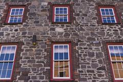st augustine old building reflective windows - stock photo