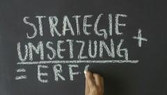 Success Formula (In German) Stock Footage