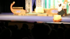 Bright stage in the theatre Stock Footage
