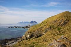 lofoten islands - stock photo