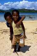 little boys in nosy be - stock photo
