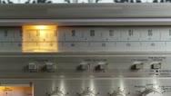 Vintage radio dial retro wallpaper Stock Footage