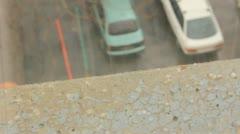 Rain with hail Stock Footage