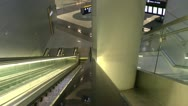 Stock Video Footage of Ride Airport Escalator
