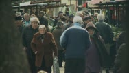 Stock Video Footage of Street Market Scene 1