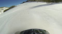 Snowmobile hill climb fun and recreation HD 3001 Stock Footage