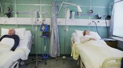Patients receiving outstanding service of healthcare from medical team Stock Footage
