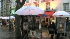 Paris Street Artists Scenic ED Stock Footage