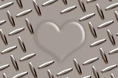 love metal card - stock illustration