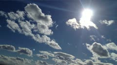 Cloud and sun 19 - stock footage