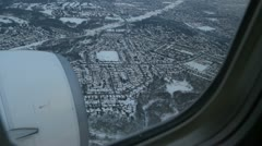 Toronto winter approach. 1 of 2. Stock Footage