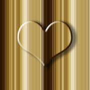 romantic background big heart - stock illustration
