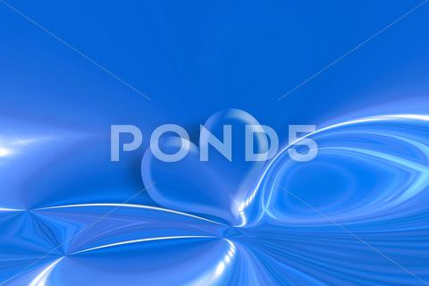 Stock Illustration of heart and stars blue background