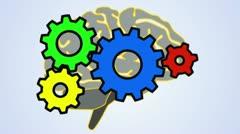 Gears on Brain (HD) Stock Footage