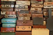 Stock Photo of vintage suitcase and briefcase
