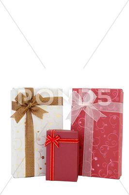 Stock photo of isolated of holiday gift box
