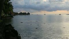 Tahiti sunset Stock Footage