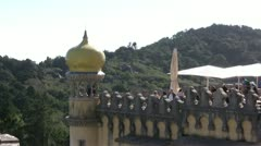 Pena Palace view from top Stock Footage