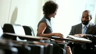 African American Business Colleagues Airport Lounge Stock Footage
